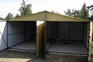 железный гараж схема сборки